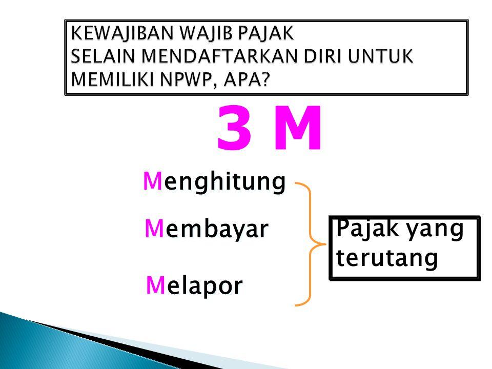 SANKSI Setiap orang yang dengan sengaja tidak mendaftarkan diri untuk diberikan NPWP atau tidak melaporkan usahanya untuk dikukuhkan sebagai PKP pidana penjara 6 bulan - 6 tahun menimbulkan kerugian pada pendapatan negara denda 2 – 4 kali jumlah pajak terutang yang tidak atau kurang dibayar *Berdasarkan Pasal 39 UUKUP