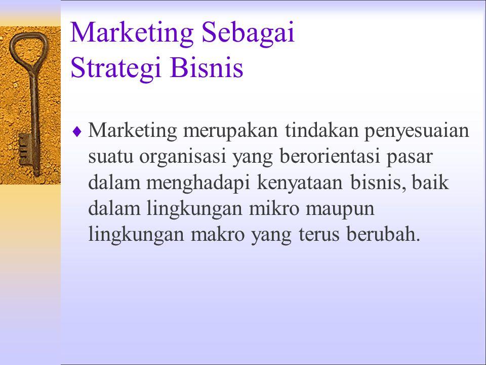 Marketing Sebagai Ilmu  Marketing merupakan ilmu pengetahuan yang obyektif, yang diperoleh dengan penggunaan instrumen-instrumen tertentu untuk mengu