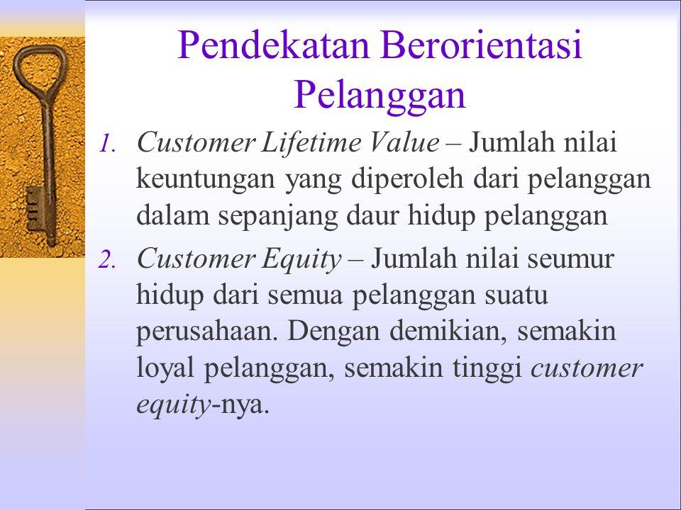 Nilai Pelanggan Nilai yang Diterima Pelanggan = Jml Nilai bagi Pelanggan – Biaya Ttl Pelanggan *Cat. : Kumpulan manfaat yang diperoleh pelanggan harus