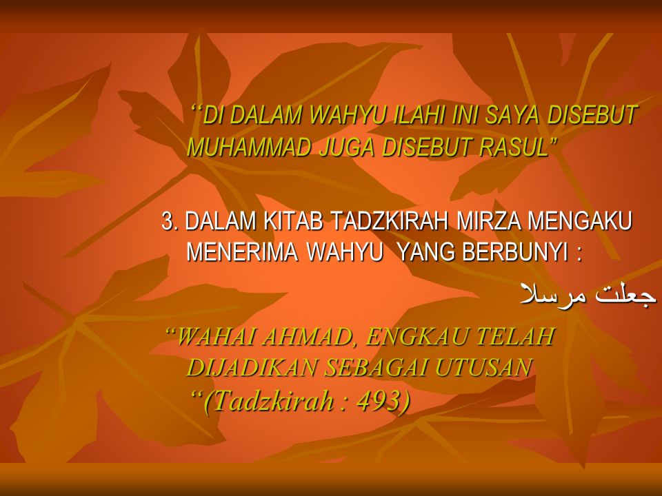 FATWA/DASAR HUKUM YANG MELARANG ALIRAN MILLAH IBRAHIM DAN L.SAKANI 1.