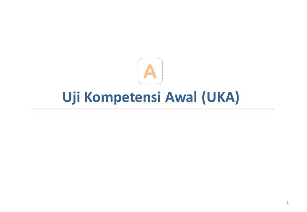 Uji Kompetensi Awal (UKA) A 1