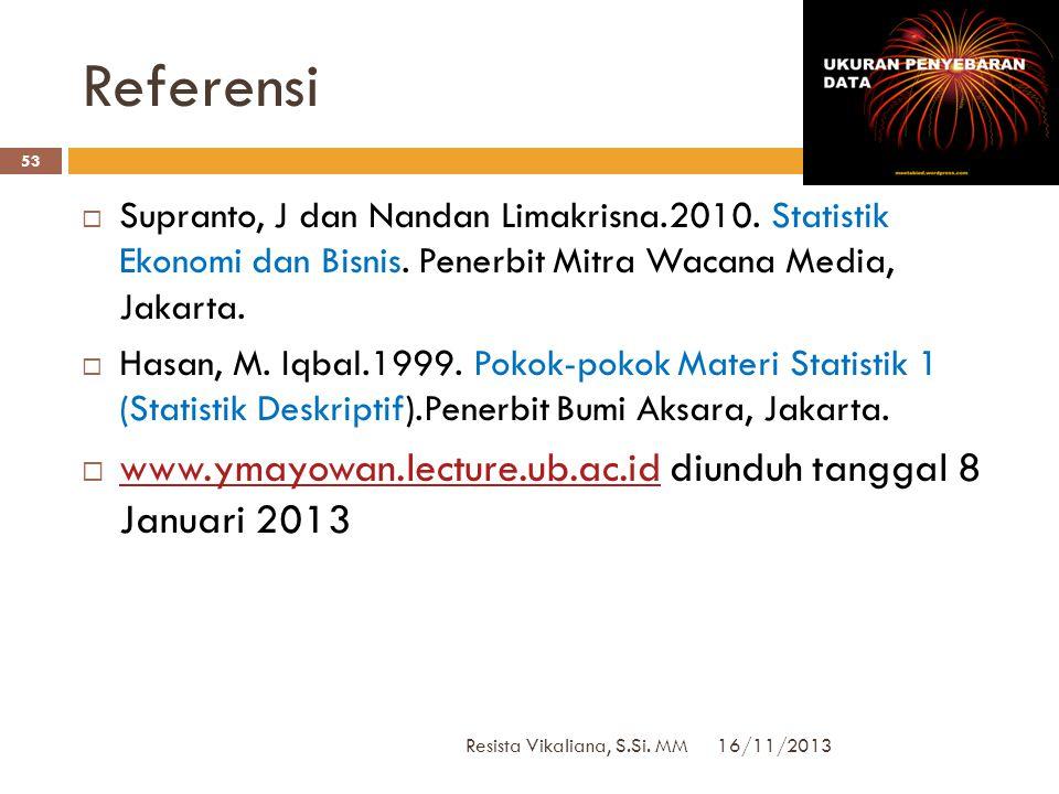 DATA KELOMPOK: Metode Coding 16/11/2013 Resista Vikaliana, S.Si. MM 52