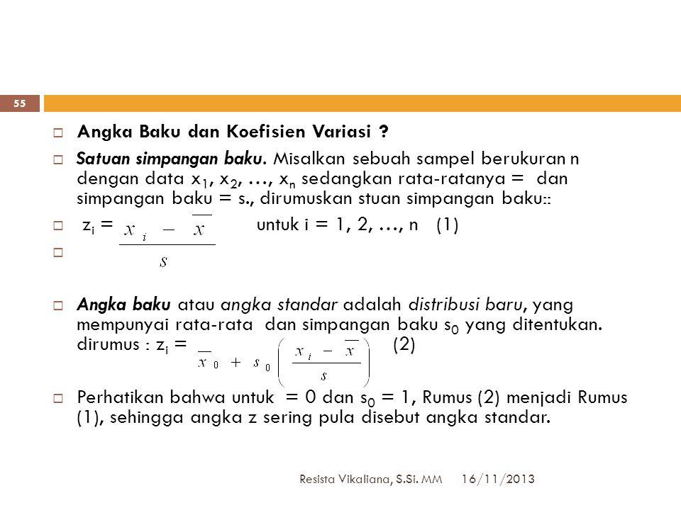 16/11/2013 Resista Vikaliana, S.Si. MM 54 UTSUTS  Sifat closed book  Boleh membawa catatan di selembar kertas (HVS ukuran F4), bolak balik, DITULIS