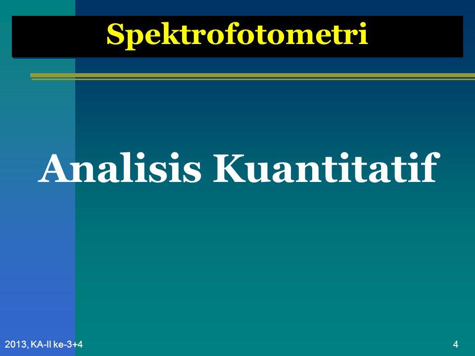 952013, KA-II ke-3+4 Perkiraan Nilai Absorban Berdasarkan Perhitungan Teorits Dari Nilai dalam literatur