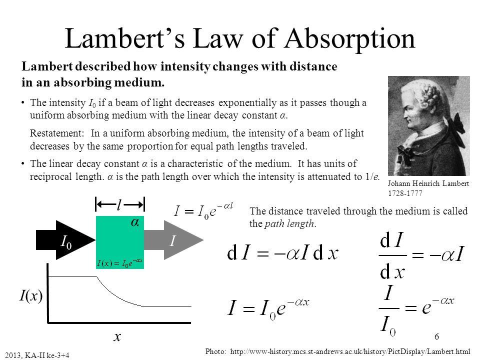 2013, KA-II ke-3+47 A = - log T =  b c Hukum tersebut diturunkan dengan asumsi : 1.