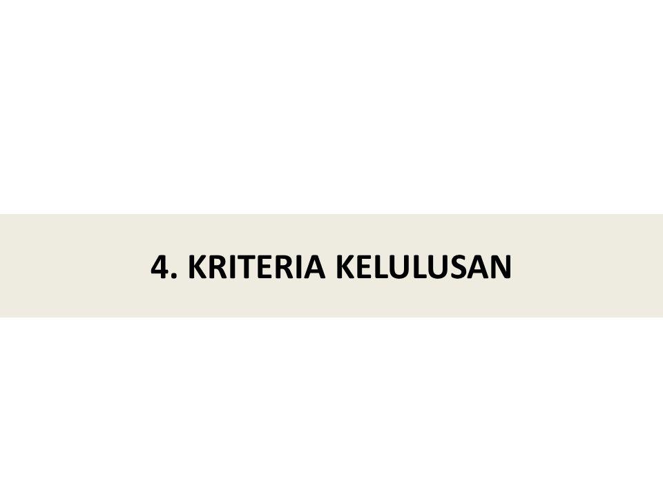 4. KRITERIA KELULUSAN