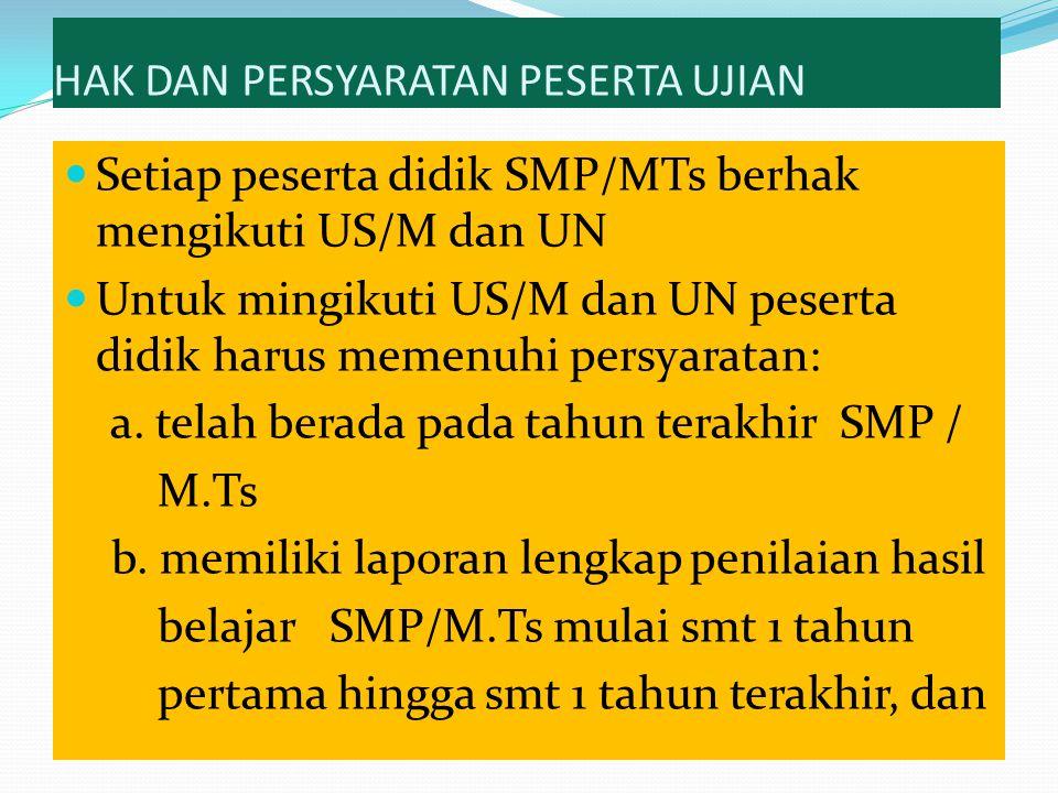 Kriteria Penyelesaian Seluruh Program Pembelajaran SD/MI : memiliki rapor Semester 1 sampai 12 SMP/MTs : memiliki rapor Semester 1 sampai 6 SMA/MA : telah menyelesaikan pembelajaran dari kelas X sampai dengan kelas XII (memiliki rapor Semester 1 sampai 6)