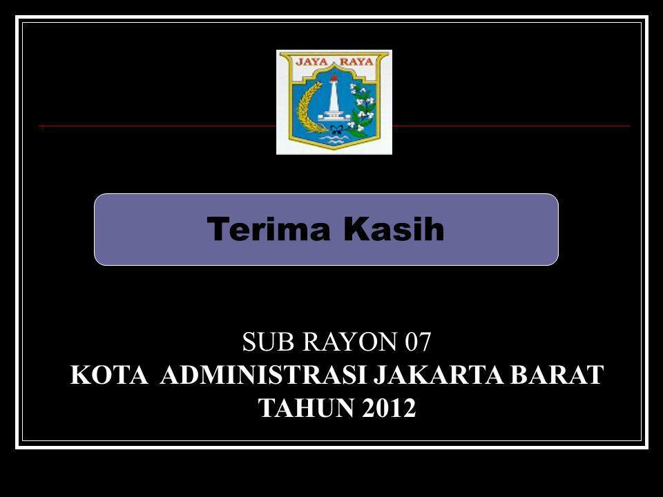 Terima Kasih SUB RAYON 07 KOTA ADMINISTRASI JAKARTA BARAT TAHUN 2012