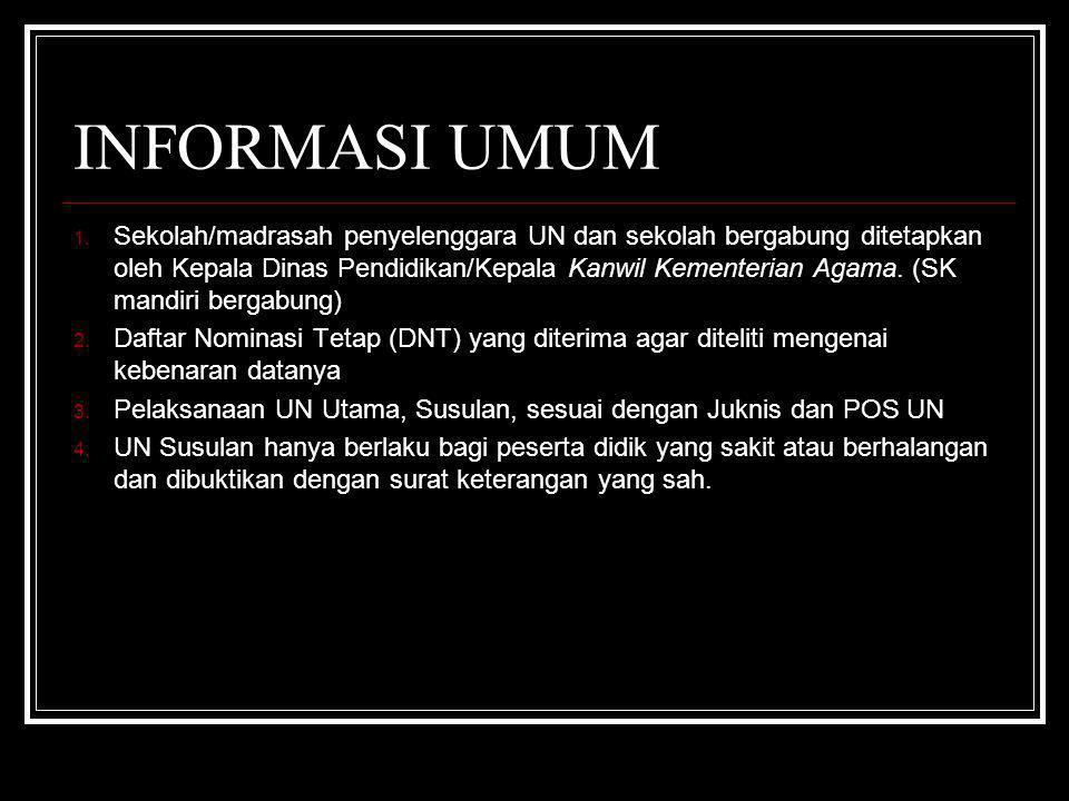 INFORMASI UMUM 1.