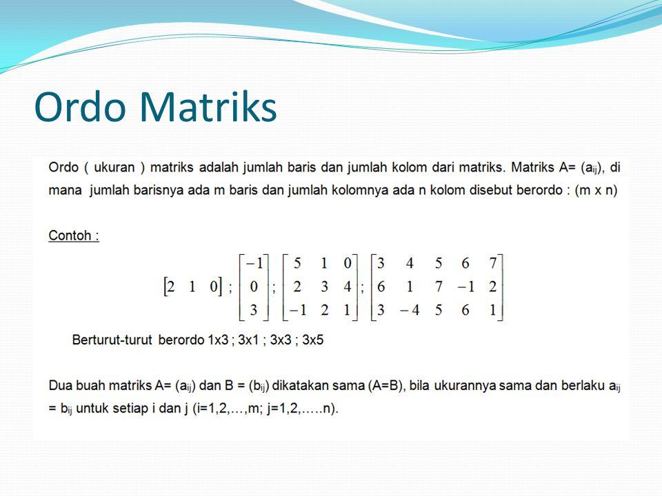 Ordo Matriks