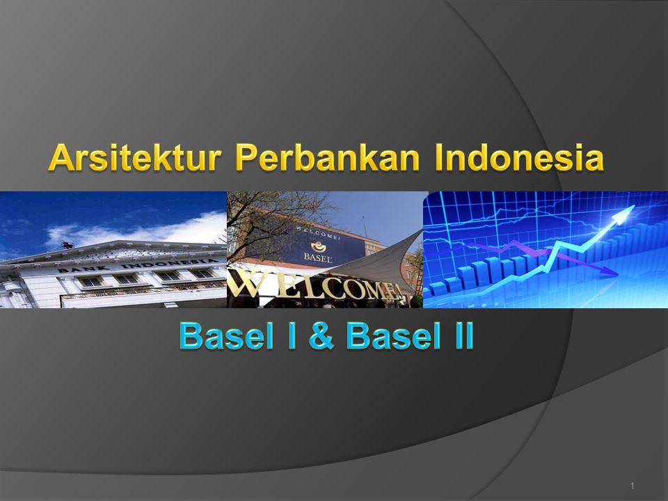 Arsitektur Perbankan Indonesia – API  Bank Indonesia pada tanggal 9 Januari 2004 telah meluncurkan API  Suatu kerangka dasar sistem perbankan Indonesia yang bersifat menyeluruh dan memberikan arah, bentuk dan tatanan industri perbankan untuk rentang waktu lima sampai sepuluh tahun ke depan Struktur Enam Pilar - API Sistem perbankan yang sehat, kuat, dan efisien guna menciptakan kestabilan sistem keuangan dalam rangka membantu pertumbuhan ekonomi nasional Struktur Perbankan yang Sehat Sistem Pengaturan yang Efektif Sistem Pengawasan yang Independen dan Efektif Industri Perbankan yang Kuat Infrastruktur Pendukung yang Mencukupi Perlindungan Nasabah Pilar 1Pilar 2 Pilar 3 Pilar 4Pilar 5Pilar 6