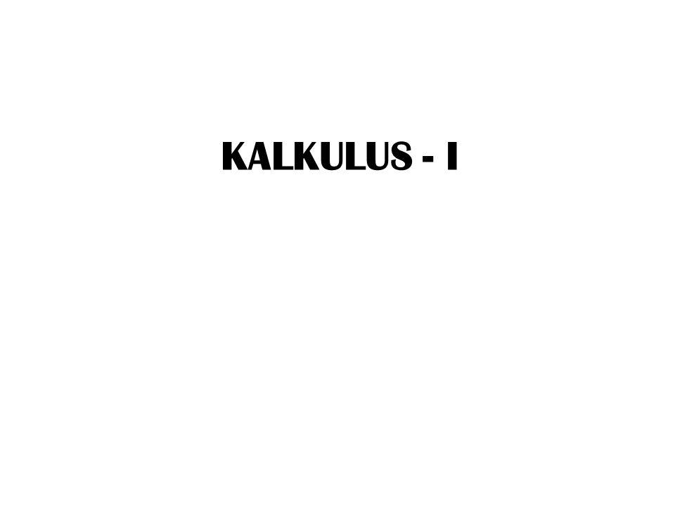KALKULUS - I