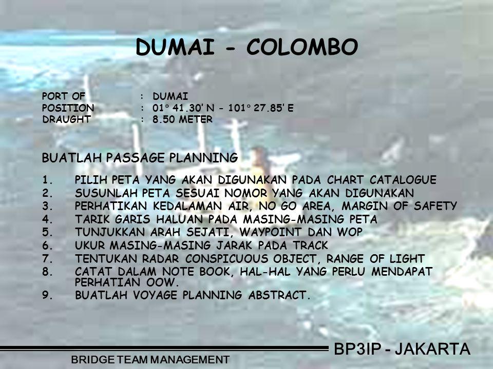BP3IP - JAKARTA BRIDGE TEAM MANAGEMENT CHART NUMBERTITLE OF CHART 1.No.
