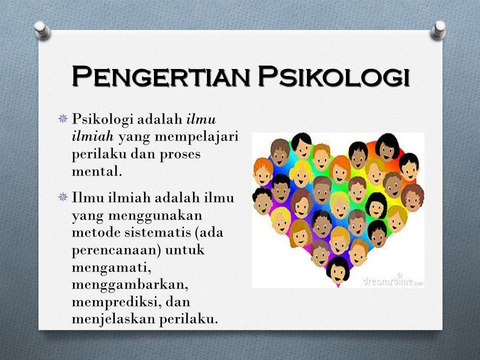 Pengertian Psikologi Menurut Beberapa Ahli  Drever PSIKOLOGI merupakan cabang ilmu yang dapat didefinisikan secara bervariasi, tergantung pada pendekatan atau metode untuk meneliti individu.