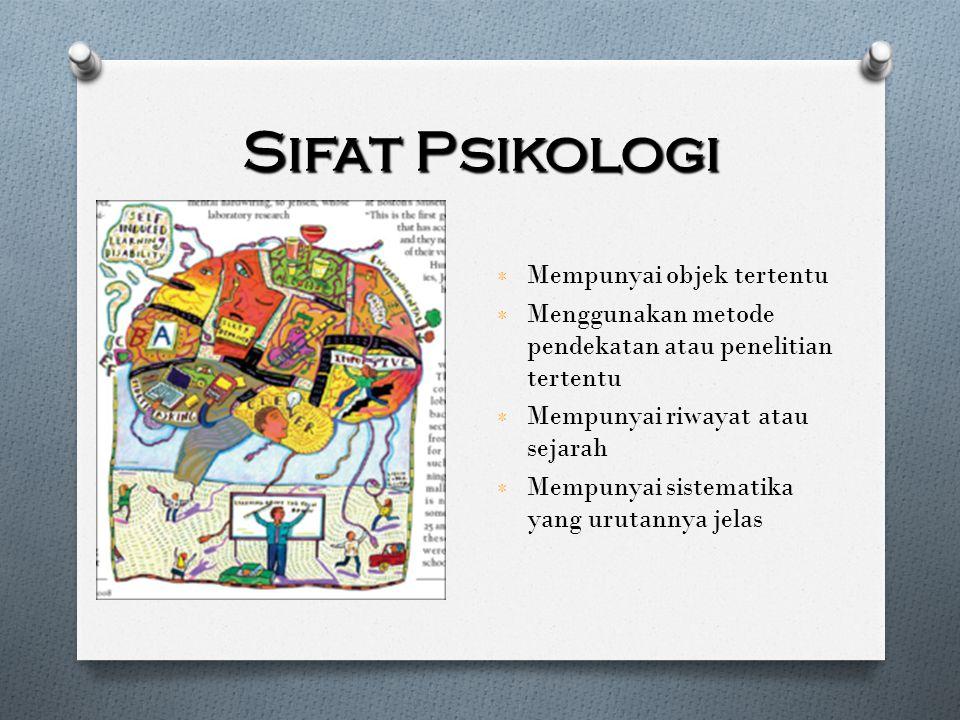 Ruang Lingkup Psikologi B erdasarkan objek yang dipelajarinya, psikologi dapat dibedakan atas: ٭ Psikologi yang mempelajari manusia ٭ Psikologi yang mempelajari hewan.