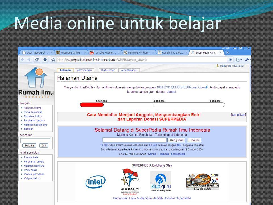Media online untuk belajar