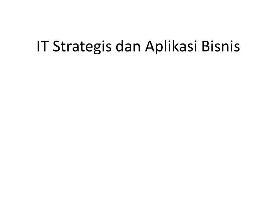 IT Strategis dan Aplikasi Bisnis