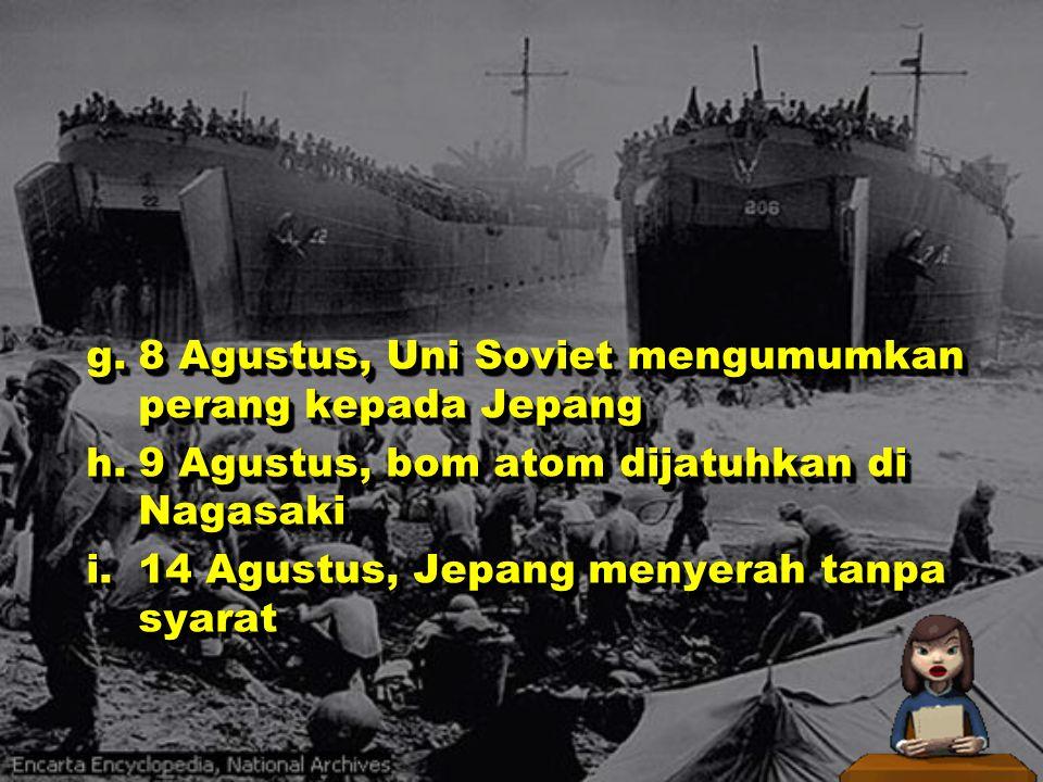 PERANG DUNIA IIAGUSRIAL, S.Pd f.6 Agustus, bom atom dijatuhkan di Hiroshima