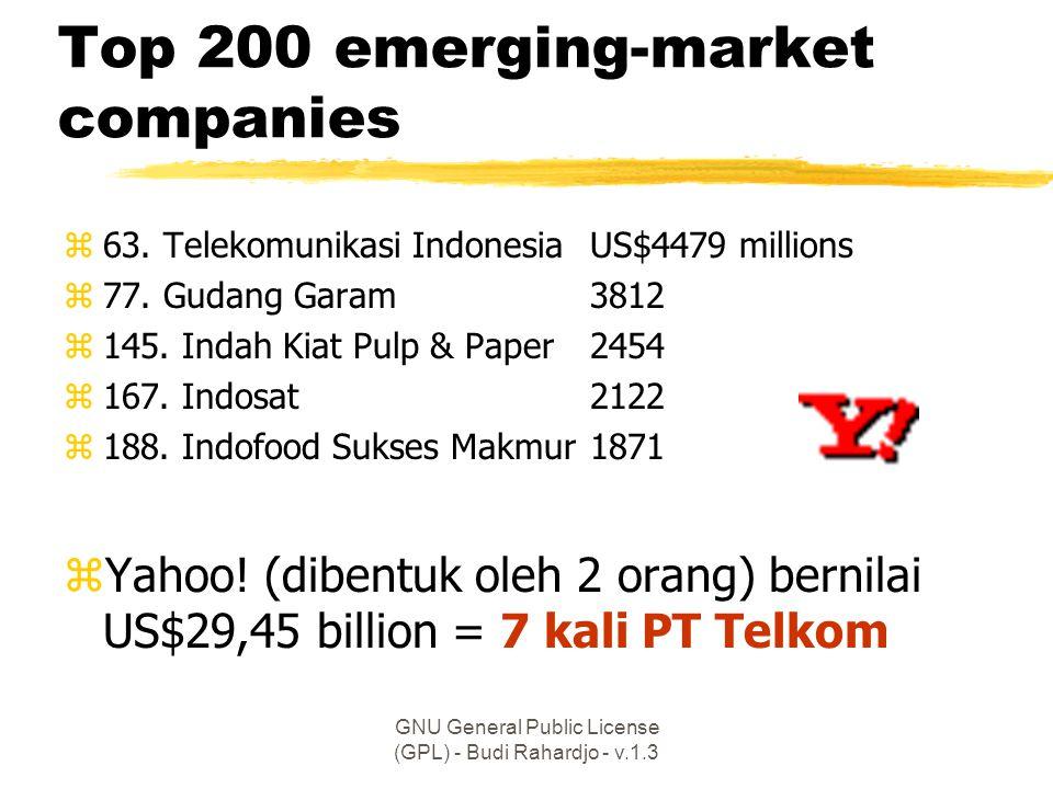 GNU General Public License (GPL) - Budi Rahardjo - v.1.3 Top 200 emerging-market companies z63.