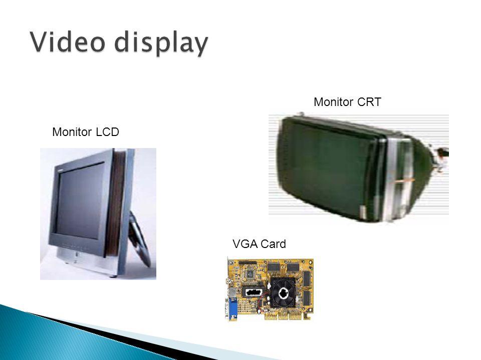 Monitor LCD Monitor CRT VGA Card
