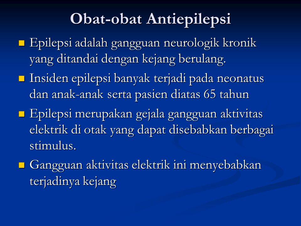 Obat-obat Antiepilepsi Epilepsi adalah gangguan neurologik kronik yang ditandai dengan kejang berulang.