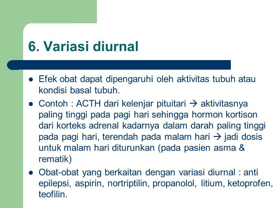 Efek obat dapat dipengaruhi oleh aktivitas tubuh atau kondisi basal tubuh.