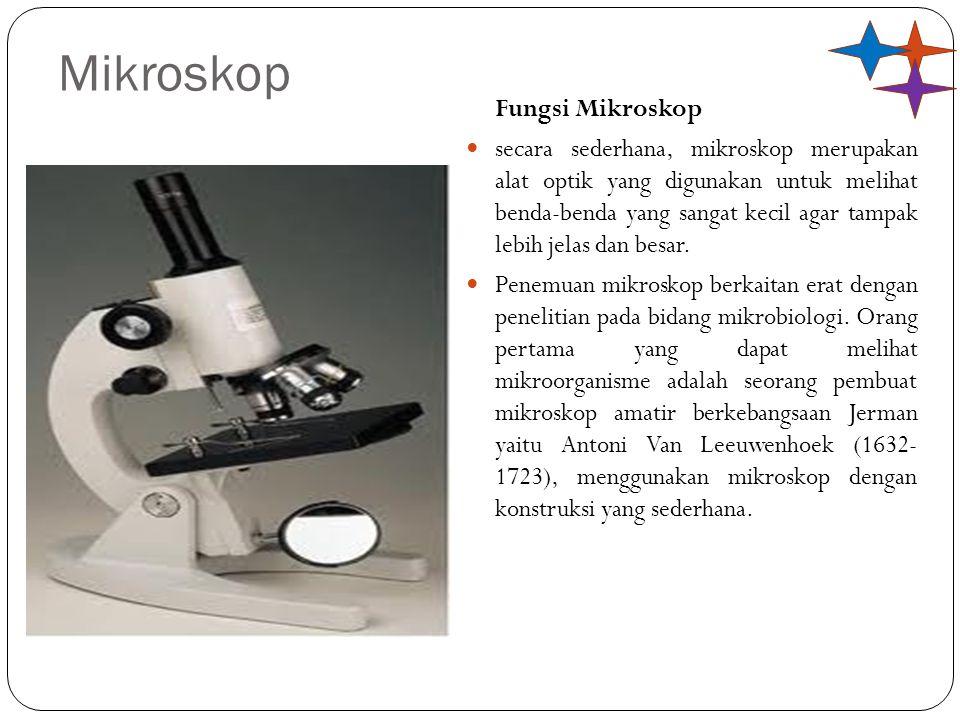 Panjang mikroskop adalah jarak lensa objektif dengan lensa okuler, yakni : Dengan: M OB : Perbesaran dari lensa objektif M OK : Perbesaran dari lensa okuler M : Perbesaran total pada mikroskop S OB : Jarak benda terhadap lensa objektif S' OB : Jarak bayangan terhadap lensa objektif N : Titik dekat mata normal (25 cm) f OK : Jarak fokus lensa okuler L : Panjang mikroskop atau tabung