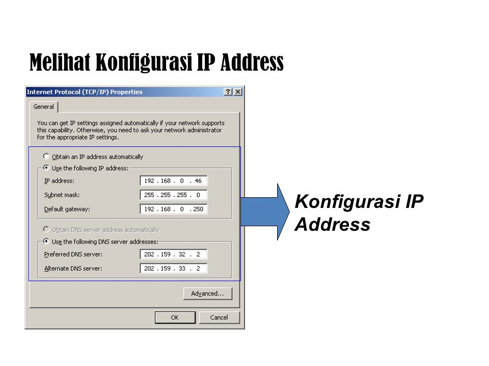 IP Address Static IP Address Automatic