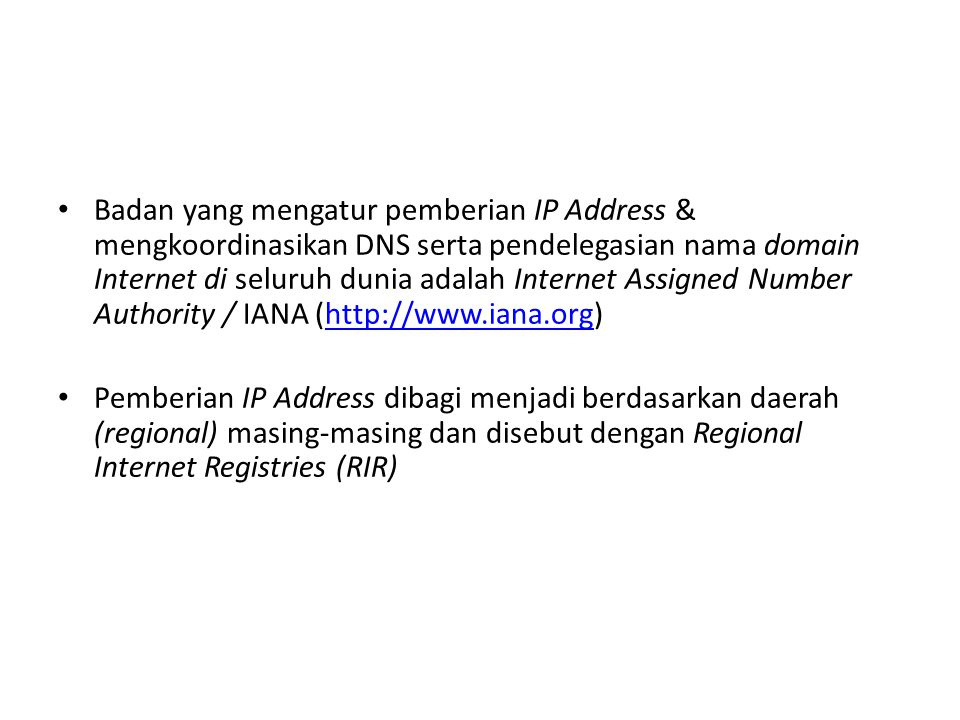 IP Address Pertemuan IX