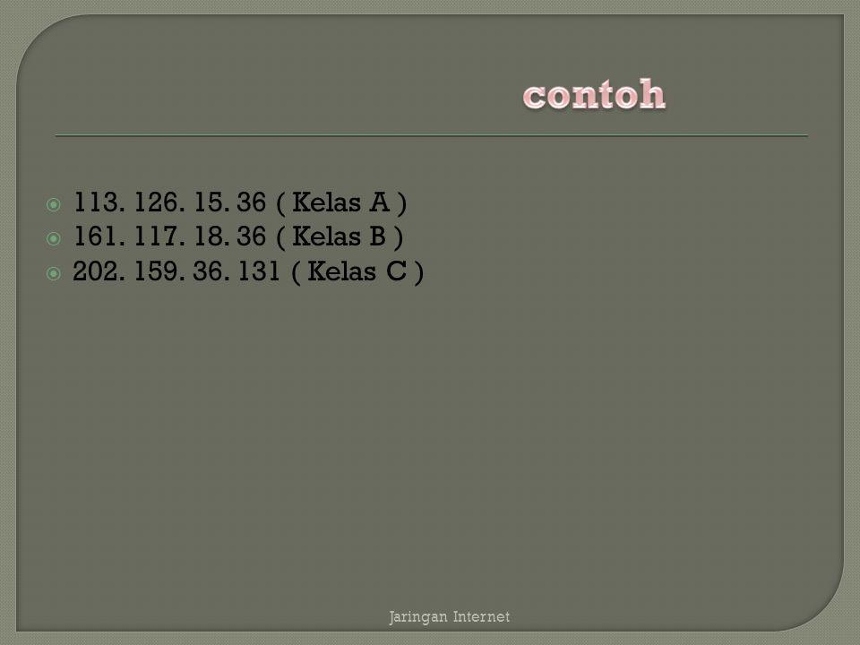  113. 126. 15. 36 ( Kelas A )  161. 117. 18.