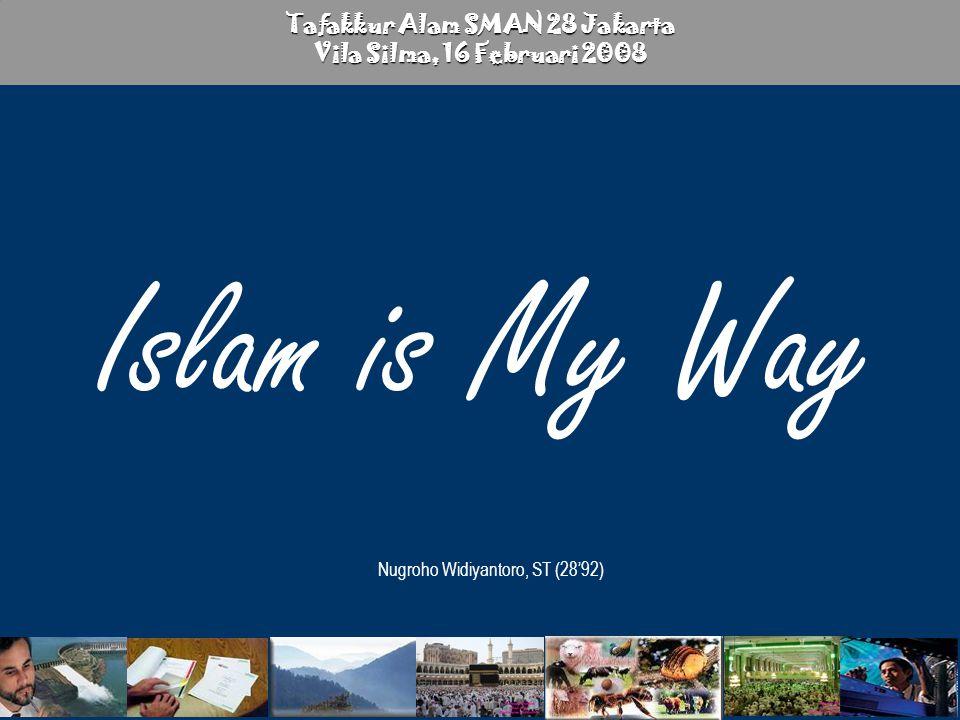 Islam is My Way Nugroho W 2 إِنَّ فِي خَلْقِ السَّمَاوَاتِ وَالأرْضِ وَاخْتِلافِ اللَّيْلِ وَالنَّهَارِ لآيَاتٍ لأولِي الألْبَابِ ( ١٩٠ ) الَّذِينَ يَذْكُرُونَ اللَّهَ قِيَامًا وَقُعُودًا وَعَلَى جُنُوبِهِمْ وَيَتَفَكَّرُونَ فِي خَلْقِ السَّمَاوَاتِ وَالأرْضِ رَبَّنَا مَا خَلَقْتَ هَذَا بَاطِلا سُبْحَانَكَ فَقِنَا عَذَابَ النَّارِ ( ١٩١ ) Sesungguhnya dalam penciptaan langit dan bumi, dan silih bergantinya malam dan siang terdapat tanda-tanda bagi orang-orang yang berakal. (yaitu) orang-orang yang mengingat Allah sambil berdiri atau duduk atau dalam keadan berbaring dan mereka memikirkan tentang penciptaan langit dan bumi (seraya berkata): Ya Tuhan Kami, Tiadalah Engkau menciptakan ini dengan sia-sia, Maha suci Engkau, Maka peliharalah Kami dari siksa neraka. QS Ali Imron : 190-191 Tafakkur Alam….