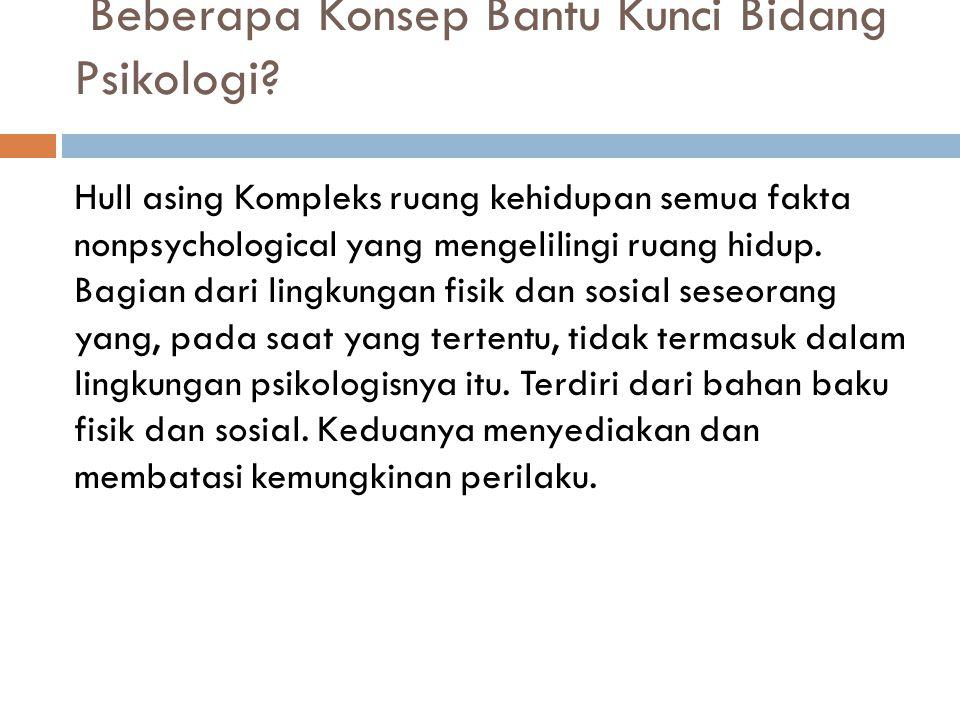 Beberapa Konsep Bantu Kunci Bidang Psikologi.