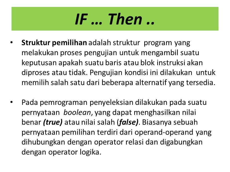 CONTOH PROGRAM 1 :