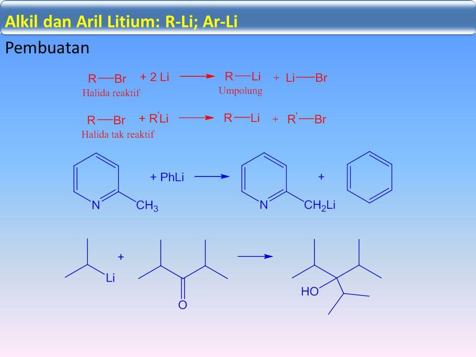 Adisi Nukleofilik C=X: Pembuatan Alkil dan Aril Litium: R-Li; Ar-Li