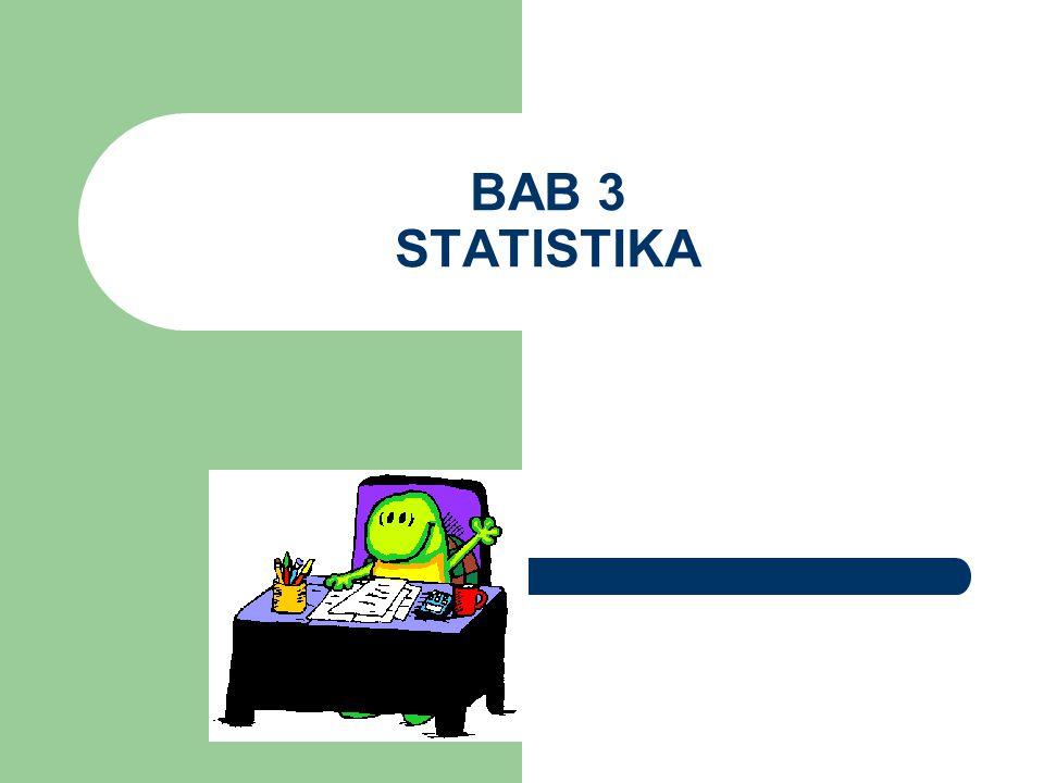 Statistika, sebuah cabang dari matematika terapan, adalah ilmu yang mempelajari cara – cara : mengumpulkan dan menyusun data, mengolah dan menganalisis data, serta menyajikan data dalam bentuk kurva atau diagram menarik kesimpulan, menafsirkan parameter, dan menguji hipotesa (dugaan) yang didasarkan pada hasil pengolahan data.
