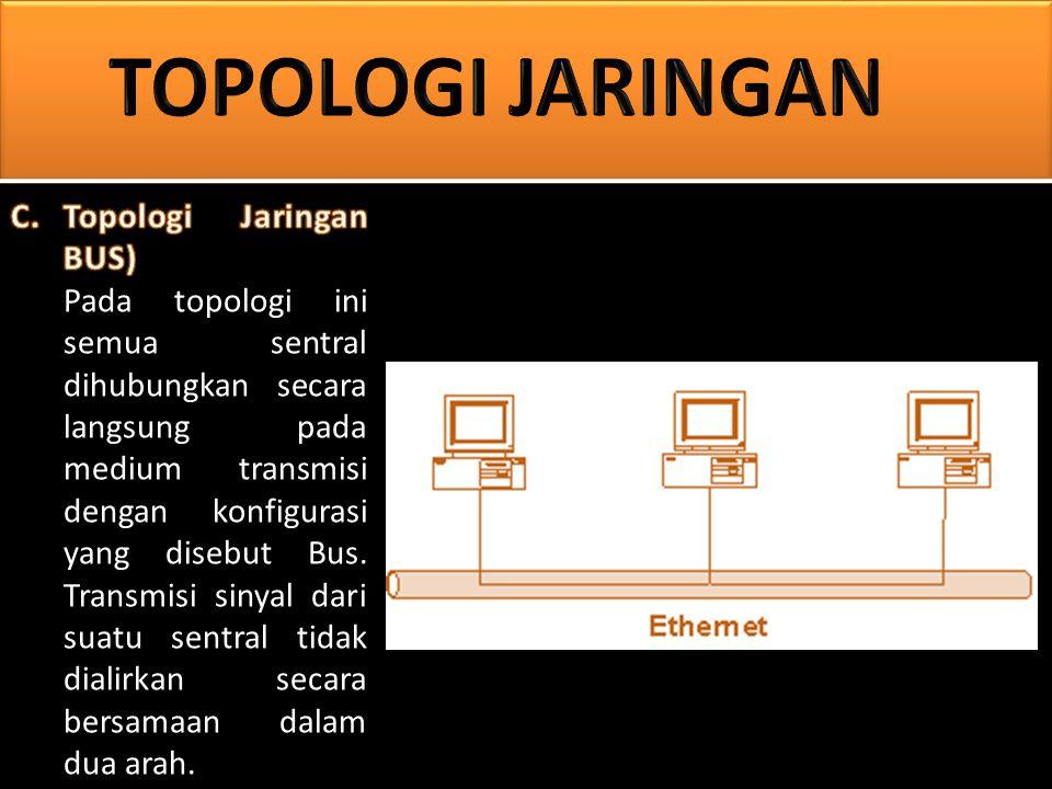 1.Pengembangan jaringan atau penambahan workstation baru dapat dilakukan dengan mudah tanpa mengganggu workstation lain.