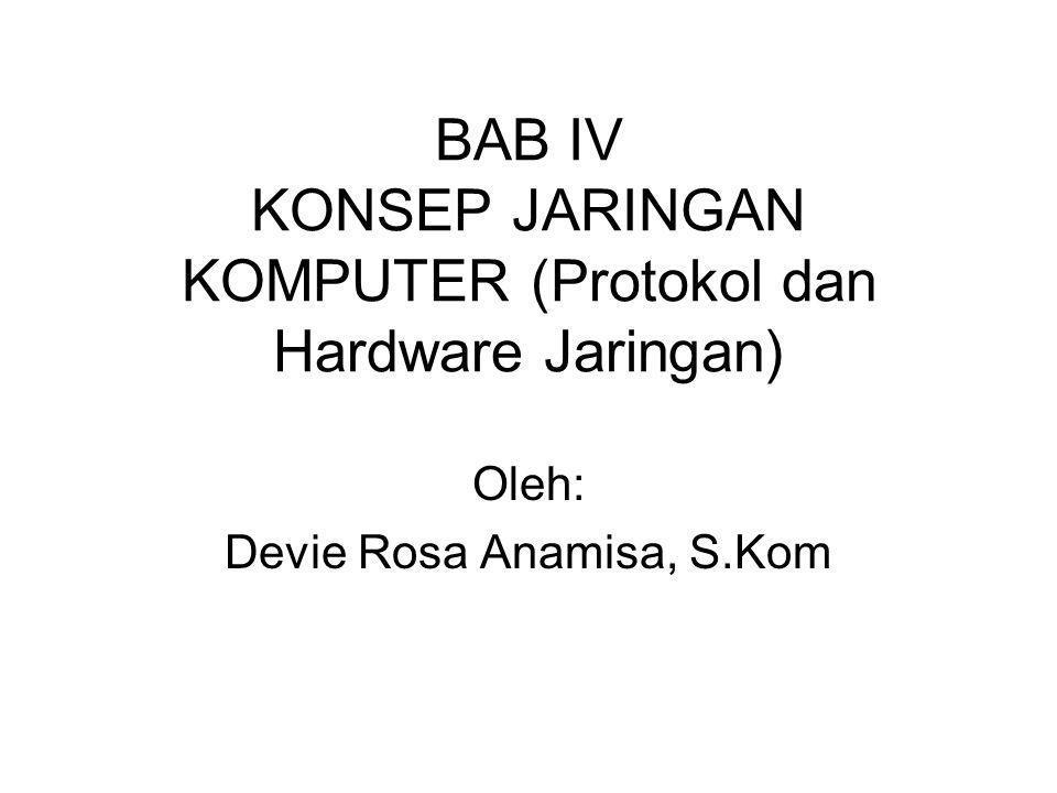 BAB IV KONSEP JARINGAN KOMPUTER (Protokol dan Hardware Jaringan) Oleh: Devie Rosa Anamisa, S.Kom
