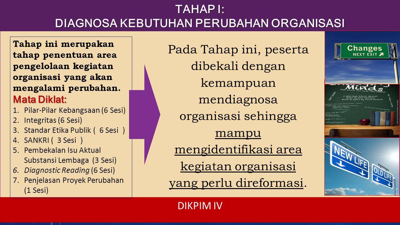 TAHAP II: TAHAP II: TAKING OWNERSHIP (BREAKTHROUGH I) o Peserta diarahkan untuk mengkomunikasikan permasalahan organisasi tersebut kepada stakeholder- nya dan mendapat persetujuan untuk mereformasinya, terutama dari atasan langsungnya.