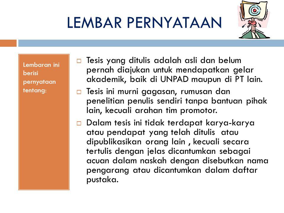 ABSTRACT/ABSTRAK ISINYA:  Mencerminkan seluruh isi disertasi dengan mengungkapkan intisari uraian tentang masalah penelitian,  pendekatan yang digunakan atau kerangka pemikiran,  metode penelitian,  temuan penelitian, dan  kesimpulan yang dibuat dalam dua versi bahasa, yaitu bahasa Inggris dan bahasa Indonesia  masing-masing antara 200 sampai dengan 250 kata diketik satu spasi.