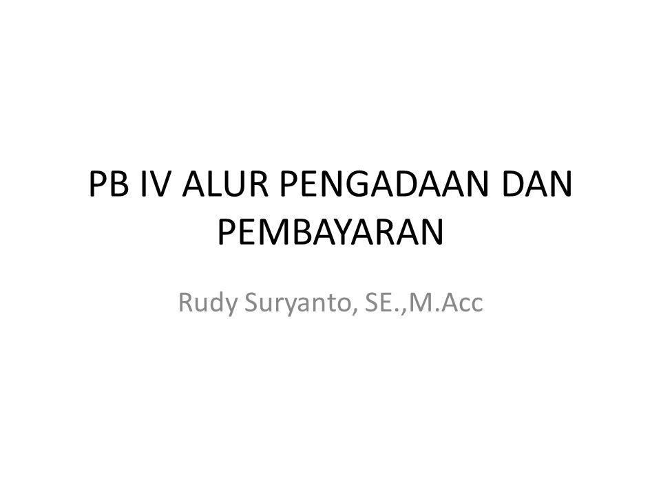 PB IV ALUR PENGADAAN DAN PEMBAYARAN Rudy Suryanto, SE.,M.Acc