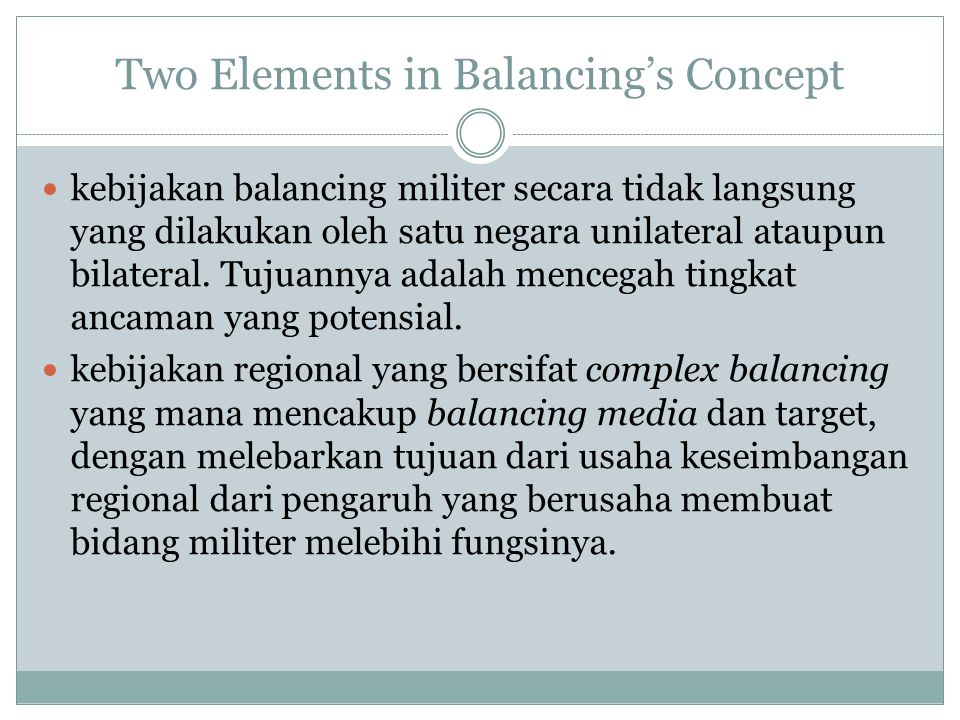Conclusion Dengan adanya sistem hirarkhi dalam tatanan regional memunculkan beberapa masalah di Asia Tenggara.
