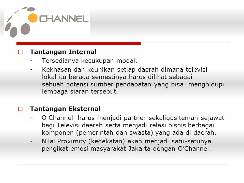 BAB III  Kesimpulan - Sebagai stasiun TV lokal, O Channel mampu bersaing dengan TV Nasional lainnya.