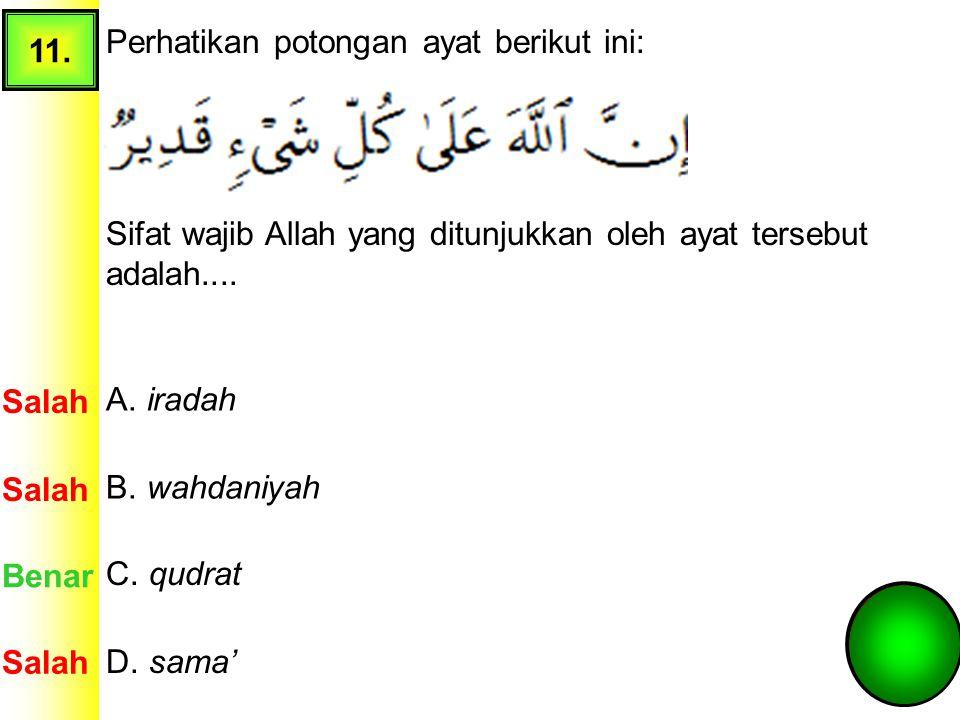 10. Perhatikan beberapa sikap berikut ini: Sikap yang sesuai dengan QS. al-Insyirah ditunjukkan pada nomor.... A. 1 dan 2 Salah Benar B. 2 dan 5 C. 2
