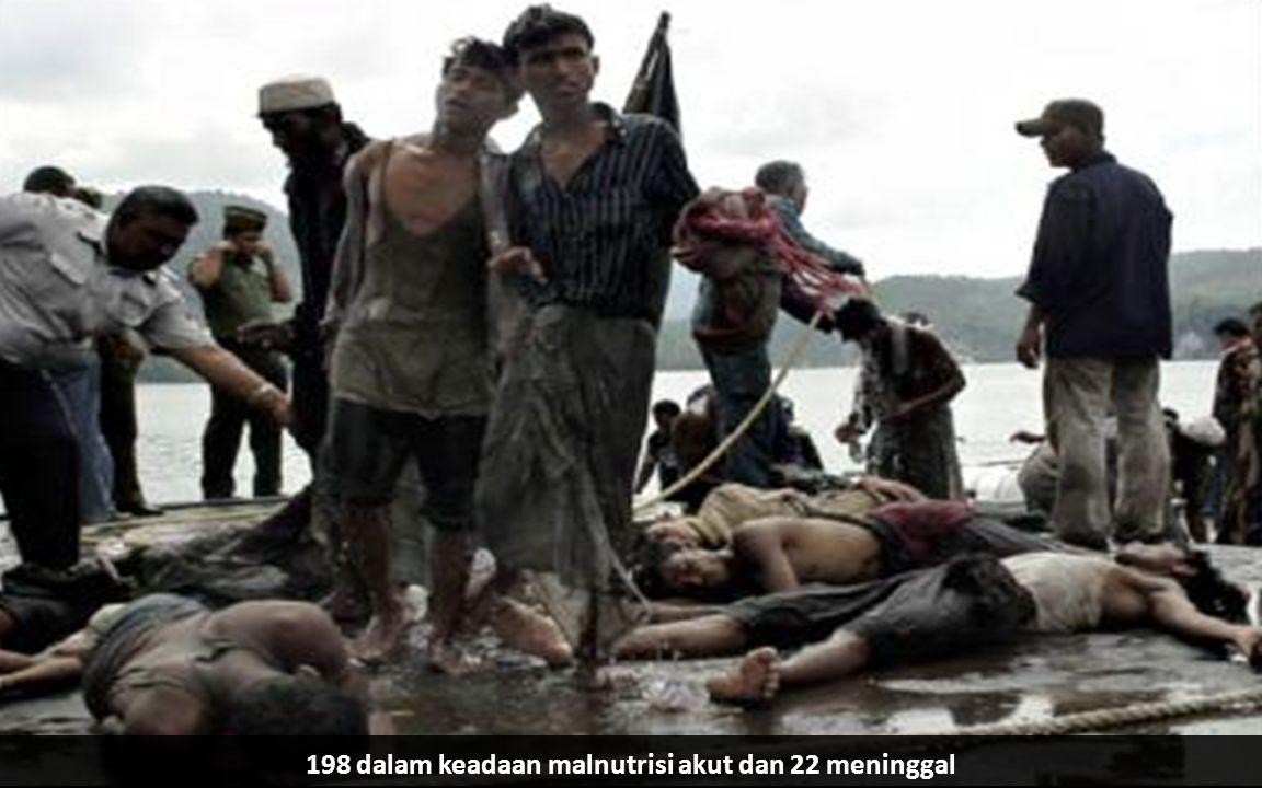 198 dalam keadaan malnutrisi akut dan 22 meninggal