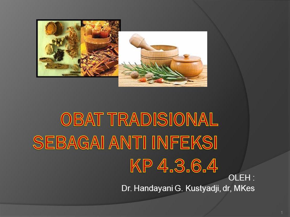 OBAT TRADISIONAL SEBAGAI ANTI INFEKSI 1.Diare& GE infeksi 2.