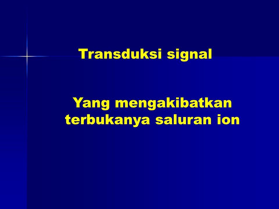 Transduksi signal Yang mengakibatkan terbukanya saluran ion