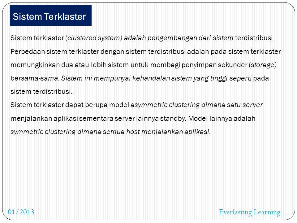 Sistem Terdistribusi Prosessor pada sistem terdistribusi bervariasi ukuran dan fungsinya. Biasanya terdiri dari mikroprosessor, workstation, minikompu