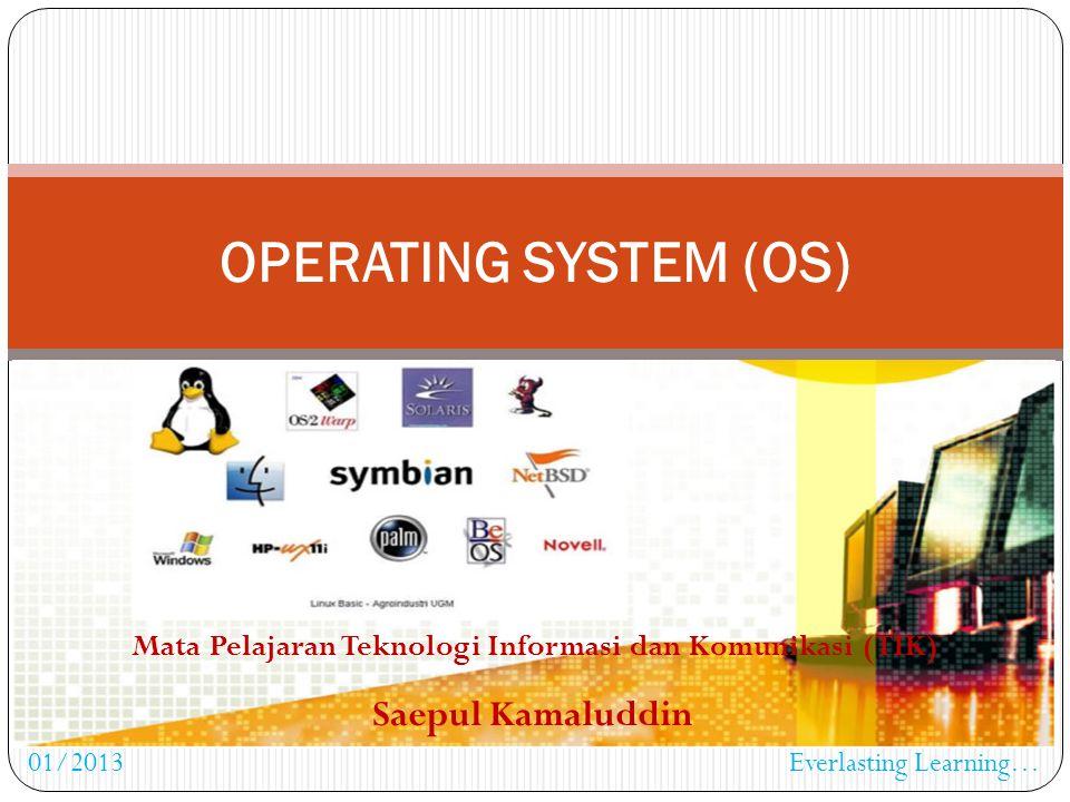 Sistem Desktop Semakin turunnya harga perangkat keras, dikembangkan sistem komputer untuk satu user.
