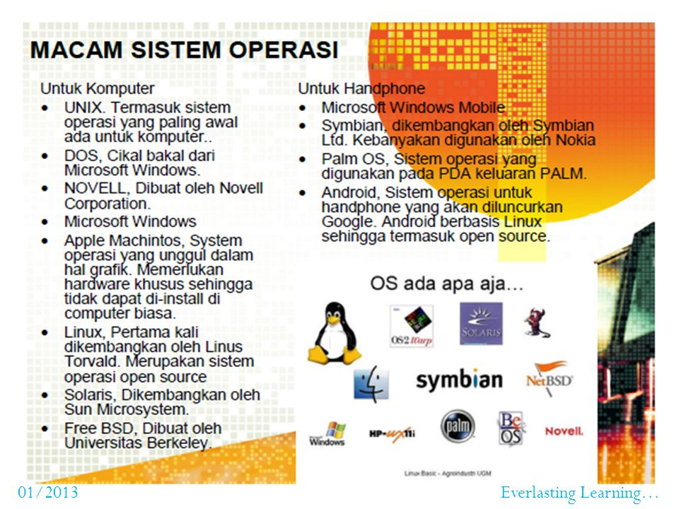 Peran OS dalam Komputer Sistem operasi adalah program yang bertindak sebagai perantara antara user dengan perangkat keras komputer. Sistem operasi dig