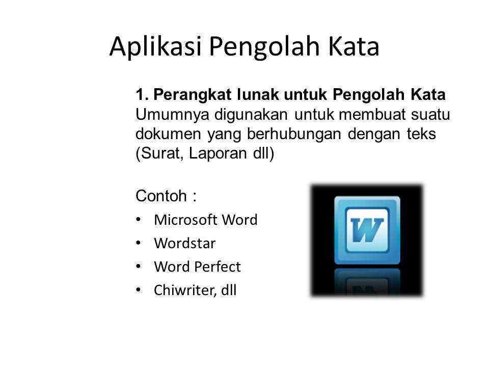 SOFTWARE APLIKASI Yaitu perangkat lunak yang dibuat oleh perusahaan software (Software house) yang berguna untuk menyelesaikan pekerjaan yang sifatnya